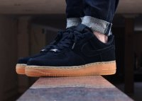 Женские кроссовки Nike Air Force Low Suede (black/brown) - 49w