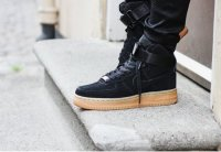 Женские кроссовки Nike Air Force High 1 (black/yellow) - 49w