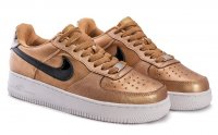 Женские кроссовки Nike Air Force 1 low (gold/black) - 54Z