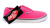 Женские кеды Vans Authentic Neon Pink 63-07-39W