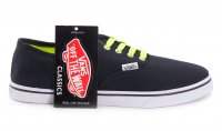 Женские кеды Vans Authentic Neon Black-Green 63-07-47W