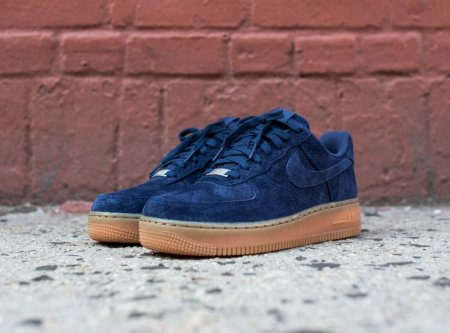 Женские кроссовки Nike Air Force 1 low (navy/brown) - 50Z