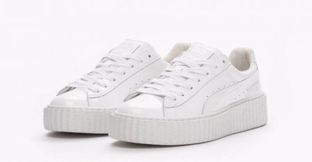 Женские кроссовки Puma Rihanna Creepers (white leather) 24-08-13