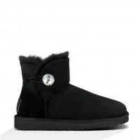 Черные UGG Classic Mini  Bailey Button 21-10-02